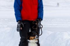 Junghund Samu und der jüngste Hundeführer im Team Wolfi